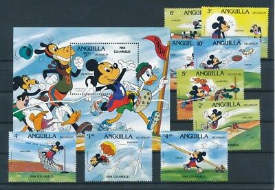 [G93537] Anguilla 1984 Walt Disney good set + sheet Very Fine  MNH stamps