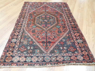 Ca1930 VGDY ANTIQUE PERSIAN KURDISH BIJAR VISS SERAPI 3.4x5 ESTATE SALE RUG