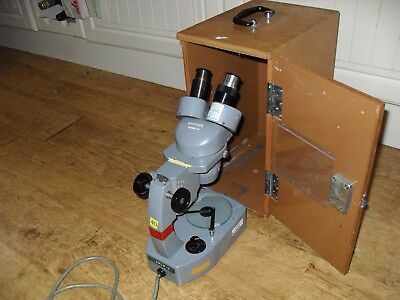 Vintage Myacope Stereo Microscope With Box