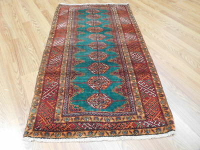 Ca1930s VE DY ANTIQUE PERSIAN QASHQAI TURKEMAN SERAPI 2.6x4.6 ESTATE SALE RUG