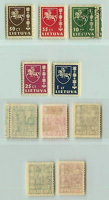 Lithuania, 1937, SC 301-305, mint or used. rta3942