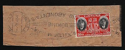 Lithuania, 1934, SC C79, used, cover cut. c8268