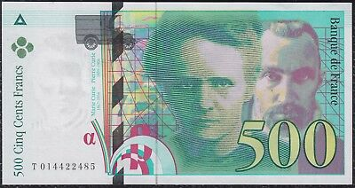 500 Francs from France 1994 Unc G2