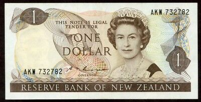 New Zealand 1 Dollar N.d. (1985-89) Note !!!!! Xf