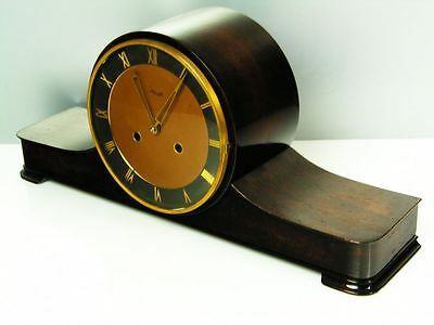 Beautiful Art Deco Design Chiming Mantel Clock From  Kienzle With Pendulum