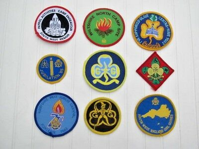 Girl guide Badges / Camp Patches Set of 9 all differant