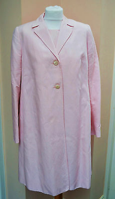 BLOOMING MARVELLOUS pale pink linen blend maternity coat and dress suit - 14/16