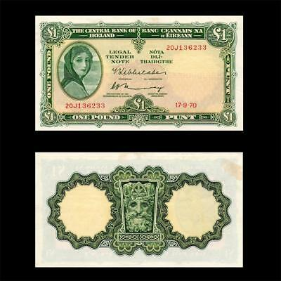 "1970 Ireland ""lady Lavery"", £1 - » Cv $100 «"