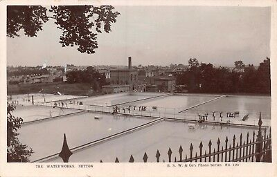 Surrey Sutton The Waterworks View Across Filtration Beds Photo Card