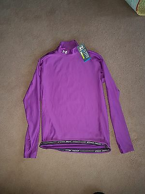 BNWT Under Armour Purple Long Sleeve Thermal top Size XL RRP £69.99
