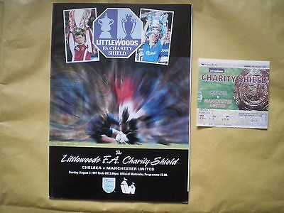 Chelsea V Manchester United Programme- 3Rd August 1997 And Match Ticket