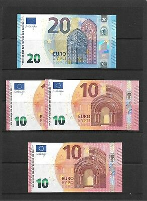 €50 (50 Euros) - surplus to requirements - 1 x €20 , 3 x €10