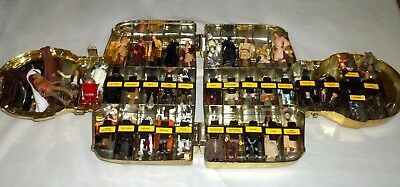 Lot Of 40 Vintage Star Wars Action Figures With Original Gold C-3PO Case - Rare