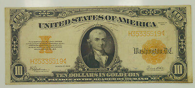 1922 Series $10 Ten Dollar Gold Coin Certificate You Grade It F-1173 K34