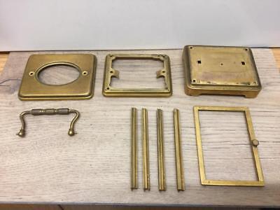 Vintage Brass Carriage Clock Case In Parts