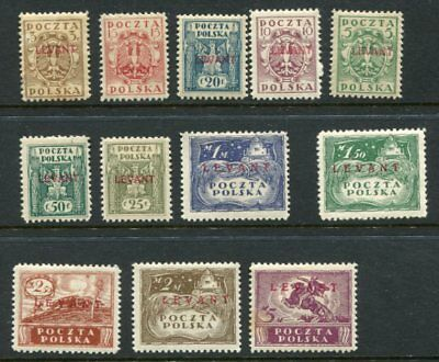 POLAND 1919 LEVANT MH Set (Forgery?) 12 Stamps