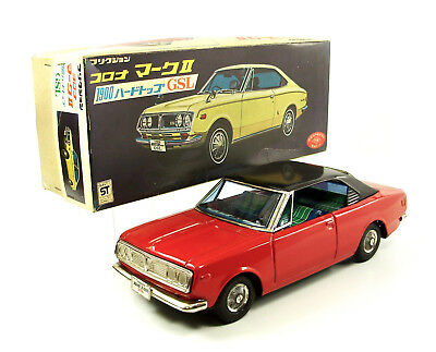 1960s Toyopet Corona Mark II 1900 GSL with Original Box by Toy Nomura NR