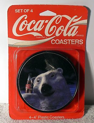 Set Of 4 NEW UNOPENED Coca Cola Coasters 073143102207 FREE SHIPPING !!