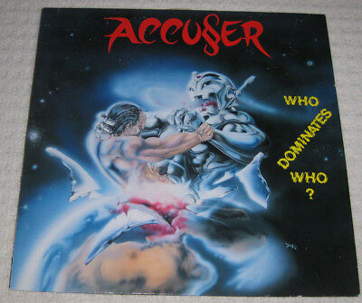 Accuser 'who Dominates Who?' Original Vinyl Lp 1989 Metallica Exodus Megadeth