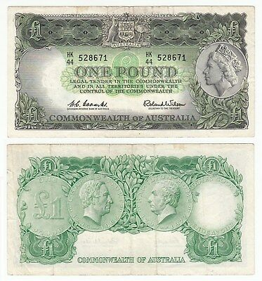 MA.157) AUSTRALIA 1 pound ND(1961-1965) VF