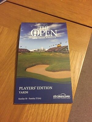 Official Players Edition Yards Book Royal Birkdale 146th The Open
