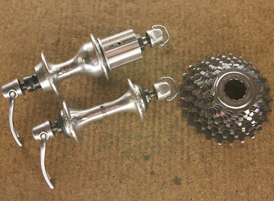 Vintage 1990's Campagnolo Record 9 speed titanium hubs hubset 36 hole / 130mm