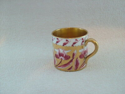 Antique porcelain coffee can gold gilded.