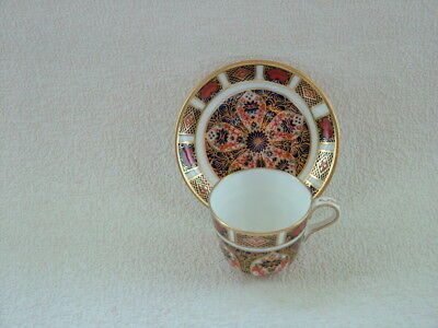 Royal crown Derby miniature cabinet cup and saucer.