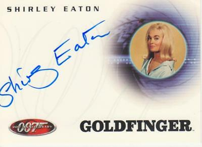 James Bond Autograph Trading Card A3 signed by Shirley Eaton as Jill Masterson