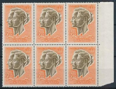 [108006] Monaco 1970 Good block of 6 Airmail stamps Very Fine MNH High Value