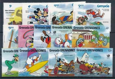 [108203] Grenada Grenadines Walt Disney Olympics Good lot of VF MNH stamps