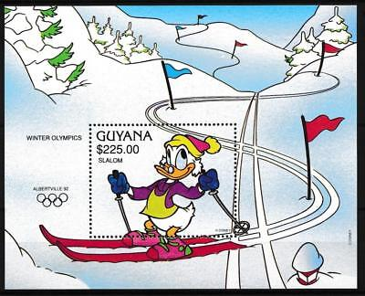 [108210] Guyana 1992 Walt Disney Olympics Good sheet Very Fine MNH