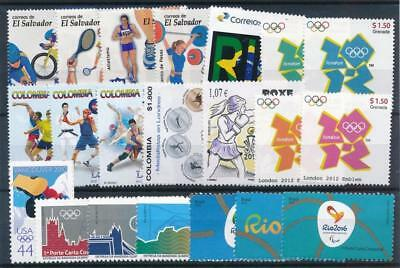 [108233] Worldwide Olympics After 2000 Good lot of Very Fine MNH stamps