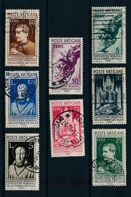[108361] Vatican 1936 Good set Very Fine used stamps Value $110
