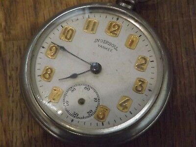 Good Vintage Ingersoll Yankee Pocket Watch