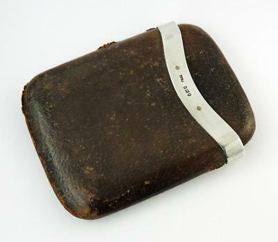 VICKERY SILVER & LEATHER CIGAR CASE London 1910