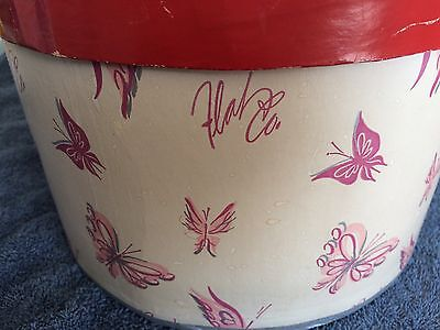 Vintage Flah's Pink Butterfly Hat box