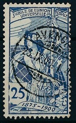 [38011] Switzerland 1900 Good stamp delicate engraving Very Fine used