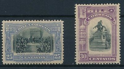 [38081] Chile 1910 Two good stamps Very Fine MH