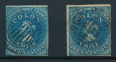 [38094] Chile Two good classical stamps Very Fine used