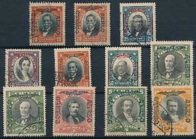 [38107] Chile 1928/32 Good lot airmail stamps with watermark Very Fine used