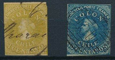 [38110] Chile Two good classical stamps Very Fine used