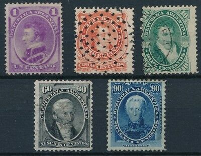 [38114] Argentina 1867/73 Good lot Very Fine Mint no gum/used stamps