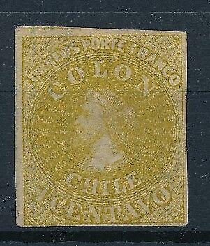 [38137] Chile 1861/67 Good classical stamp Very Fine Mint no gum