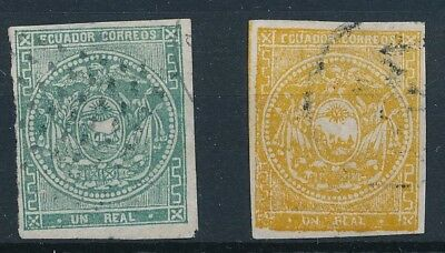 [38147] Ecuador Two 1865/72 Two good classical stamps Very Fine used