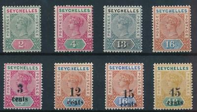 [38210] Seychelles 1890/93 Good lot of Very Fine MH stamps