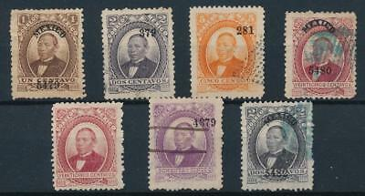 [38460] Mexico 1877/82 Good lot Very Fine Mint no gum/used stamps