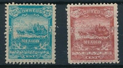 [38469] Mexico 1895 Two good stamps Very Fine MH