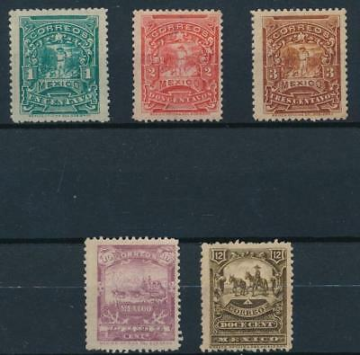 [38470] Mexico 1895 Good lot of Very Fine MH stamps