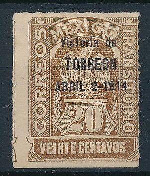 [38491] Mexico 1914 Good SCARCE stamp Very Fine MH Value $1850